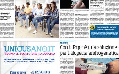 Corriere dello Sport | Con il PRP c'è una soluzione per l'alopecia androgenetica