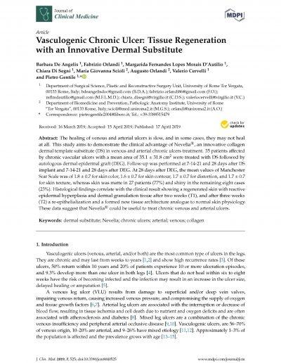 Rigenerazione Tessutale nelle Ulcere Croniche - Impact Factor 5,6