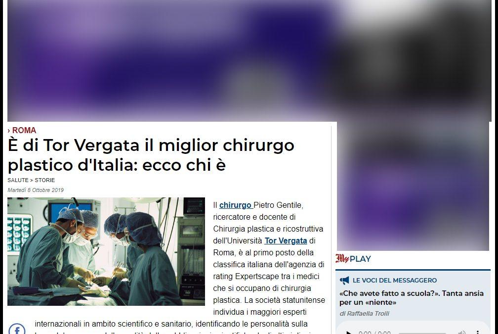 Miglior Chirurgo Plastico d'Italia 2019 secondo l'agenzia di ranking americana Expertscape