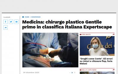 Miglior Chirurgo Plastico d'Italia 2020 secondo l'agenzia di ranking americana Expertscape